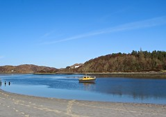 Morar, Scotland. (Chanel Debono) Tags: morar scotland scottishhighlands lake loch boat yellowboat trees winter