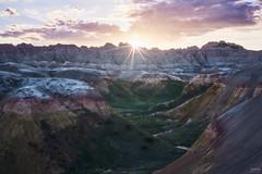 Badlands Sunset (davidgevert) Tags: badlands badlandsnationalpark ruggedsouthdakota ruggedterrain d750 nikond750 nikon50mmf18 50mmf18 50mmlandscape davidgevert gevertphotography landscape rocks southdakota sunset badlandssunset clouds landscapephotography