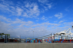 DSC_5709-61 (jjldickinson) Tags: nikond3300 103d3300 nikon1855mmf3556gvriiafsdxnikkor promaster52mmdigitalhdprotectionfilter freeway terminalislandfreeway ca47 ca103 longbeach portoflongbeach polb harbor longbeachharbor shippingcontainer container ship containership crane bridge