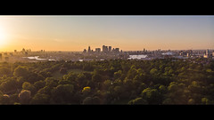 Greenwich Park & Canary Wharf (Davestarling) Tags: drone mavic dji cityscape london greenwich greenwichpark sunset city thames