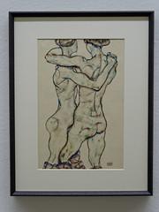 Vienna '18 (faun070) Tags: vienna leopoldmuseum painting modernart nakedgirlsembracing 1914 egonschiele sichumarmendemädchenakte naked nude