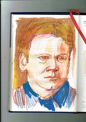 BUSQUEDA (GARGABLE) Tags: angelbeltrán apuntes drawings técnicamixta lápicesdecolores gargable cuaderno