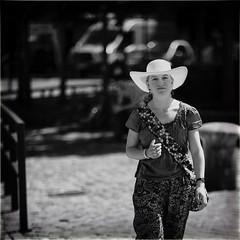 Paisley (Fouquier ॐ) Tags: girl hat paisley mono monochrome urban street city portrait blackandwhite bw antwerp belgium