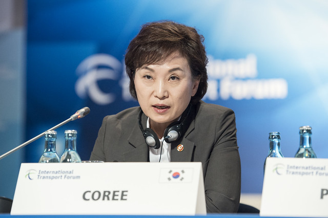 Hyun Mee Kim partaking in the Closed Ministerial