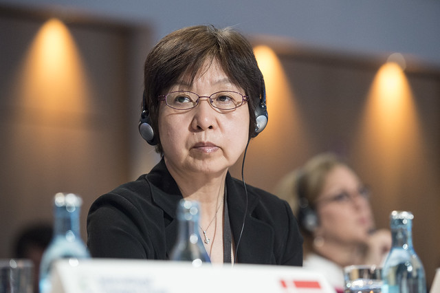 Ping Cheng attending the Closed Ministerial session
