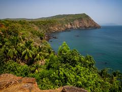 P4111503 (NorthernJoe) Tags: goa india cliffs view portuguese fort sea arabian ocean