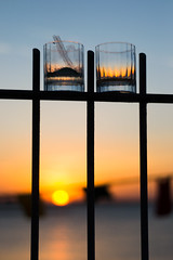 Aperitif sunset (ciccioetneo) Tags: nikond3100 nikon50mm18 aperitif aperitivo darsena sunset tramonto ciccioetneo bokeh shallowdof depthoffield darsenarimini darsenasunsetbar marinadocks sangiulianomare