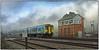 Bishton Crossing (Welsh Gold) Tags: arriva trains wales class 150 dmu cheltenham spa maesteg service bishton crossing magor southwales 2l53