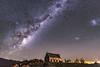 DSC_8464 (juor2) Tags: southern star prayer church newzealand d4 nikon night scene galaxy tekapo shepherd good