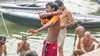 Bath-9.jpg (Karl Becker Photography) Tags: india varanasi nikon ganges river bath boy youngman shirtless