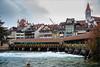 Thun met Aare (Hans van Bockel) Tags: hansvanbockel nikon p7700 sigriswil zwitserland thun bern ch aare rivier stad city brug untere schleuse schloss kirche stadsgezicht vakantie