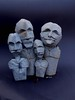 golem (-sebl-) Tags: origami sebl spraypaint cement sculpture art golem statues