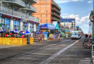 An Early Morning Walk on the Ocean City Boardwalk
