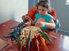 Salome (Gocha Nemsadze) Tags: dinosaur salome kid girl food play