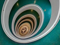 Hamburg - Up and down the stairs (Karsten Gieselmann) Tags: 1240mmf28 em5markii exposurefusion germany grün mzuiko microfourthirds olympus treppe versmannhaus green kgiesel m43 mft staircase stairs hamburg deutschland