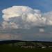 Cumulonimbus capillatus & low level clouds above Ždánice observatory