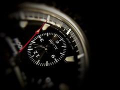 Red pointer (tomquah) Tags: macromondays lowkey tomquah alarm watch macro seiko