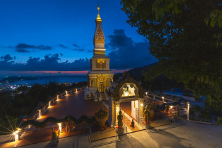 Doi thep nimit monastery on the top of Patong hill, Phuket, Thailand