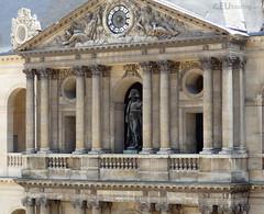 Statue of Napoleon at Hotel des Invalides (eutouring) Tags: lesinvalides hoteldesinvalides paris france gold napoleon napoleonbonaparte statue statues architecture