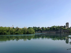 (Paolo Cozzarizza) Tags: italia lombardia milano trezzosulladda scorcio acqua alberi riflesso torre chiesa