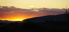 This evening's sunset for the ABC Canberraweatherpics (spelio) Tags: telstra tower black mountain canberra act australia