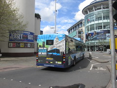986Nottingham, 25/04/18 (aecregent) Tags: nottingham 250418 nottinghamcitytransport nottinghamcommunitytransport nct byd k9ur electricbus lj16nnb centrelink pr 986 rear