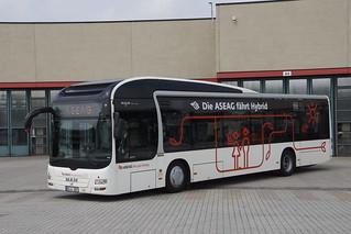 MAN Lion's City Hybrid ASEAG 309 met kenteken AC-L 309 in Aachen Betriebsho 19-05-2018