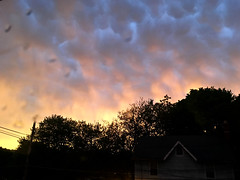 After the Storm- As the Sun Sets (Photo Squirrel) Tags: cloud sunset maryland frederickcountymd storm mammatus brunswickmd