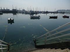 Embarcaciones en el puerto de pobra do caramiñal(Coruña-España) (Los colores del Barbanza) Tags: embarcaciones escalerilla mar puerto barcos azul craft ladder sea harbor boats blue pobra do caramiñal barbanza coruña galicia españa spain