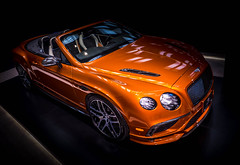 FIRE (Dave GRR) Tags: auto automobile vehicle toronto show 2018 bentley orange coupe beauty sports super hyper exotic luxury olympus