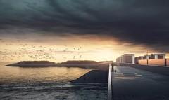 Spui- en pompcomplex Den Oever uitzichtbalkon Waddenzeezijde