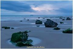 het strand bij eb