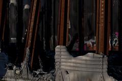 Ruin/2 (trevormarron) Tags: metal red green wreck fire abandoned ruin desolate steel iron train equipment construction recycling nature trailer burn weathered rust silver conveyor forsaken deserted urbex urban