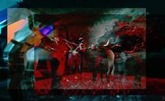 Let me go/Artist : Theda Tammas (OFF till 24th May/Bamboo Barnes - Artist.Com) Tags: thedatammas surreal women virtualart digitalart secondlife dark light shadow manipulation blue black red bamboobarnes art installation