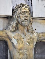 Bad Hair Day (Ctuna8162) Tags: mexico cuetzalen crucifix jesus cross cemetery easter santasemana statues religion