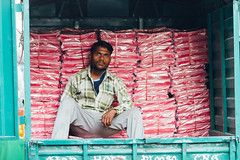 Man Sitting In Truck, New Delhi India (AdamCohn) Tags: adamcohn delhi india newdelhi man streetphotographer streetphotography truck wwwadamcohncom