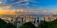 Hong Kong (kcma17) Tags: hongkong hong kong city skyline blue hour dusk dawn sunset sunrise sonnenuntergang sonnenaufgang zeiss lights sky himmel heaven skyscraper water 摩天大廈 建築物 park