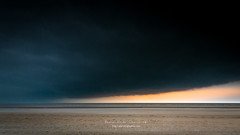 the storm (ylemort) Tags: sea beach nature sky cloudsky nopeople sand cloudscape coastline dark landscape sunset water dusk outdoors weather scenics blue horizonoverwater horizon everypixel koksijde belgium