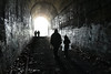 Don't Look Back (Chancy Rendezvous) Tags: chancyrendezvous davelawler blurgasm cave tunnel silhouette people railroad clintontunnel train abandoned decay spooky dark child charlie strangerdanger