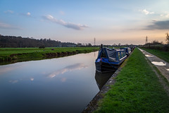 Sunset, Trent Lock, Derbyshire (Geraldine Curtis) Tags: sunset trent lock river derwent canal reflection