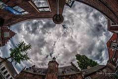 Woerden fisheye (PaulHoo) Tags: nikon d300s woerden city architecture urban clouds nik lightroom window fisheye 8mm samyang 2018 sky