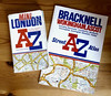Challenge Friday, week 20, theme alphabet (2) - A-Z street atlases (karenblakeman) Tags: challengefriday cf18 alphabet azstreetatlas streetmaps books uk