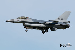 J-003 Royal Netherlands Air Force Fokker F-16AM Fighting Falcon