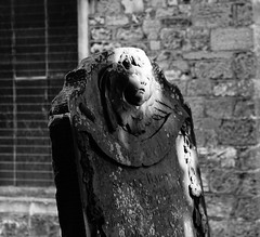 A Ray to Remember (JamieHaugh) Tags: chepstow monmouthshire wales uk gb great britain sony a6000 zeiss alpha outdoors blackwhite bw monochrome ray remember churchyard graves sunshine tombs light evening bokeh cherub statue peaceful silence quiet face ilce6000 blackandwhite black white