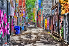 Graffiti Alley (A Great Capture) Tags: graffiti alley city downtown lights urban ef50mm agreatcapture agc wwwagreatcapturecom adjm ash2276 ashleylduffus ald mobilejay jamesmitchell toronto on ontario canada canadian photographer northamerica torontoexplore spring springtime printemps 2017 colours colors colourful colorful cityscape urbanscape eos digital dslr lens canon rebel t3i outdoor outdoors vibrant cheerful vivid bright wal mural streetphotography streetscape photography streetphoto street calle trail path route walkway pretty detail details