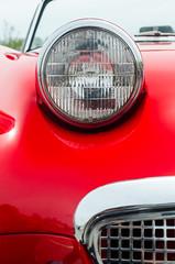 Lucas bugeye (GmanViz) Tags: gmanviz color car automobile vehicle detail nikon d7000 1962 austinhealey sprite bugeye frogeye headlight grille chrome red