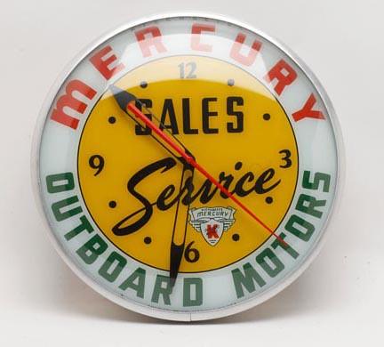 Mercury Outboard Motors Advertising Clock ($392.00)