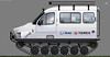 GAZ-3409 Beaver Marsh Crawler (paperscan) Tags: bobr beaver crawler marsh truck caterpillar game model gaz