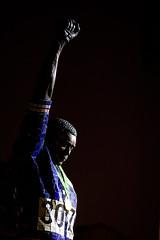 Black Power (Thomas Hawk) Tags: america california college johncarlos olympicblackpowerstatue olympics photowalk rigo23 sjphoto2011 sjsu sanjose sanjosestateuniversity southbay tommiesmith usa unitedstates unitedstatesofamerica university sculpture fav10 fav25