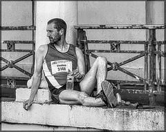Man is Stone 12 (lightandform) Tags: strong endurance posers runners marathon street attitude rest stone masculin men people tense